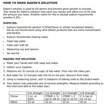 dakin s solution an antiseptic you can make at homepreparedness advice dakin s solution
