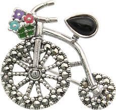 Серебряная <b>брошь</b> ''Велосипед'' <b>Марказит HB507</b>-<b>oniks</b>-<b>mr</b> с ...