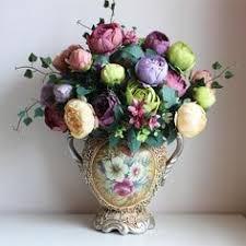 artificial <b>Peony</b> Bunch 54cm Length Six Colors Artificial Flower ...