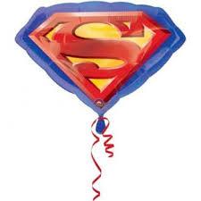 Шар фольгированный ФИГУРА Супермен эмблема, 66 см х 50 см ...