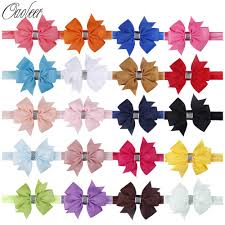 <b>20Pcs</b>/<b>Lot</b> Colorful <b>kids Small Bow</b> Tie Headband DIY Grosgrain ...