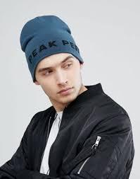 Синяя <b>шапка</b>-бини с логотипом <b>Peak Performance</b> PP | ASOS