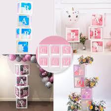 QIFU Alphabet Transparent Packing Box Wedding <b>Balloon</b> Box ...