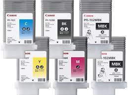 Комплект <b>картриджей Canon PFI</b>-<b>102</b>/104 (<b>PFI</b>-<b>102</b>: MBKx2,<b>BK</b>,C,Y ...
