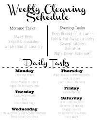 cleaning schedule template tips southern savers cleaning schedule