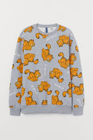<b>Sweatshirt</b> with Printed Design - Gray melange/<b>Garfield</b> - Men | H&M ...