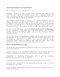 resume sample for assistant executive housekeeping eager world annamua