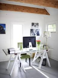 view in gallery glasstop desk with workhorse legs more diy desk ideas for a posh home office chic office desk
