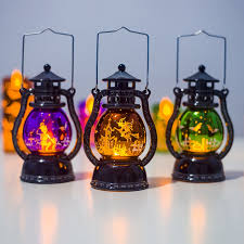 <b>Halloween LED Decorative</b> Lamp Hanging Hurricane Lantern Hand ...