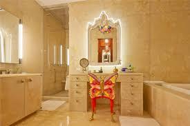 custom cream marble make up table and bathroom vanity having several drawers using gold metal door charming makeup table mirror lights