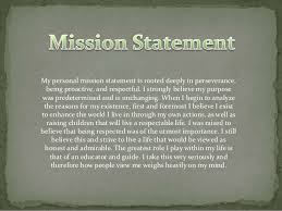 career portfolio slides stone fisk 4 my personal mission statement