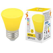 <b>Лампа</b> декоративная светодиодная (UL-00005641) <b>Volpe E27 1W</b> ...