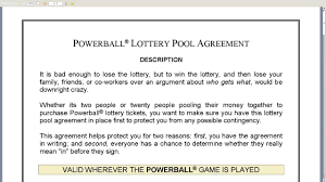 lottery pool contract info lottery pool contract doc found and available