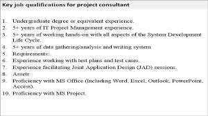 project consultant job description project consultant job description