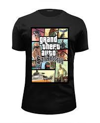 Футболка Wearcraft Premium Slim Fit <b>Grand Theft</b> Auto San ...