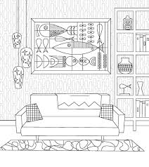 from the publisher coloring book mid century modern add midcentury modern style