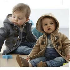 New Baby Toddler Boys spring <b>winter</b> Button <b>Hooded</b> Coat ...