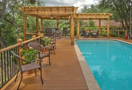 style shutters pool traditional teak patio
