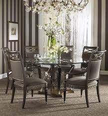 buy the belvedere dining room set with ground glass table by fine furniture design dining buy dining room table