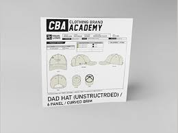 Hat - <b>Dad</b> Hat (Unstructured/ <b>Curved Brim</b>) Tech Pack