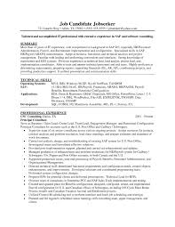 pre s consultant resume sap hr resume resume and cover letters