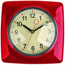 Red Retro Kitchen Accessories Mad For Mid Century Retro Kitchen Wall Clock Red And Mint Green