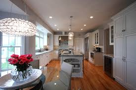 contemporary lighting classic design example of a classic u shaped eat in kitchen design in dc best kitchen lighting ideas