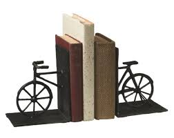 Cast <b>Iron Vintage Bicycle Shaped</b> 10.5 Inch Bookends for sale online