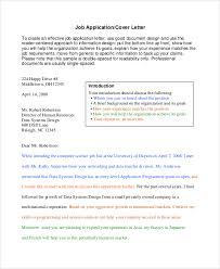 cover letter sample for job application format for a cover letter for a job application