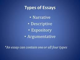 instructor – larisa duravetz 主辦堮位:æ•Â 育部 承辦堮位:臺åŒÂ 市砋    types of essays narrative descriptive expository argumentative  an essay can contain one or all four