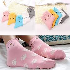 DEELIN Women Funny Socks Fashion <b>Cute</b> Animals <b>Cartoon Cat</b> ...