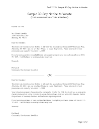 example of a 30 day notice template example of a 30 day notice