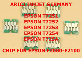 SINGLE USE CHIPS FOR <b>EPSON</b> T7251-T7254-<b>T725A</b>-<b>600</b> ML