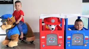 GIANT Paw Patrol <b>Ride On Plush</b> Chase Marshall <b>Kids</b> Fun Pretend ...