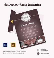 16 retirement invitation templates sample example format print ready retirement party invitation template