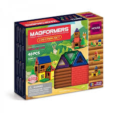 <b>Магнитный конструктор MAGFORMERS</b> Набор <b>Log</b> cabin set ...