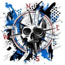 Compass | <b>Trash polka</b>, <b>Trash polka</b> tattoo, Custom tattoo design