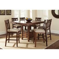 tabacon counter height dining table wine: steve silver bolton counter height storage dining table dark oak walmartcom