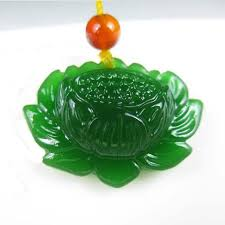 KYSZDL <b>Natural Green Hetian</b> YU Snow Lotus Pendant Fashion ...