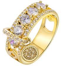 MISANANRYNE <b>Luxury White Zircon Engagement</b> Ring Vintage ...