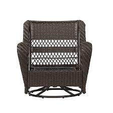 comfortable patio chairs aluminum chair: garden treasures glenlee brown steel patio conversation chair