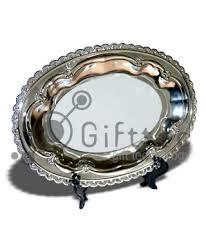 <b>Тарелка металлическая овальная</b> 24.5х17см (вставка под ...