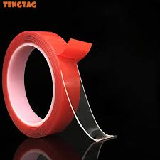 50% OFF <b>1CM</b>*3M Red <b>Transparent</b> Silicone Double Sided Tape ...