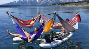 Make the most of a <b>lazy summer</b> afternoon with this <b>hammock</b>-raft ...