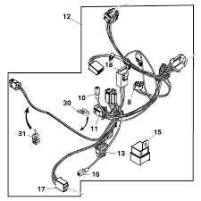 john deere front wiring harness gy