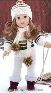 <b>ABC</b> Knitting Patterns - American Girl Doll Winter Sports Set ...