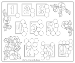 Раскраска для дошкольников с цифрами