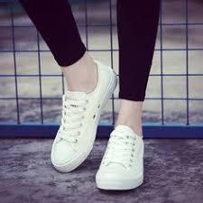 Women <b>Canvas</b> Shoes Low Breathable Solid Color Flat Shoes ...