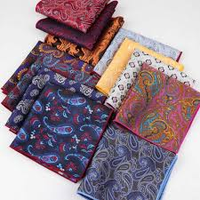 Paisley <b>Hankerchief</b> Polyester <b>Scarves</b> Vintage Fabric Of Business ...