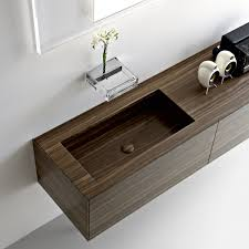 design basin bathroom sink vanities:   wooden basin